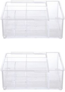 Expandable Drawer Organizer Tray, 8 Compartments, Set of 2 Bedding