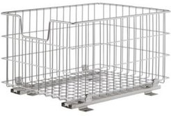 Wire Basket with Slides, Pack of 2