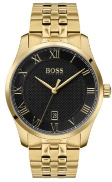 Master Gold Ion-Plated Stainless Steel Bracelet Watch 41mm