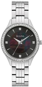 Crystal Stainless Steel Bracelet Watch 32mm, Created for Macy's