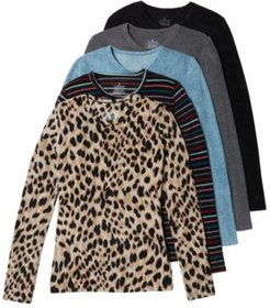 Fleece with Stretch Long-Sleeve Top