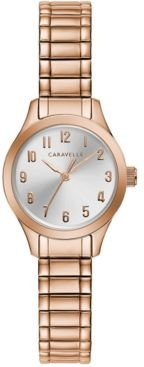 Rose Gold-Tone Stainless Steel Expansion Bracelet Watch 24mm