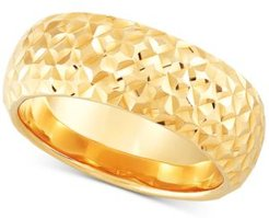 Textured Dome Statement Ring in 14k Gold