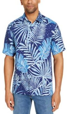 Through the Fronds Classic-Fit Tropical Print Silk Camp Shirt