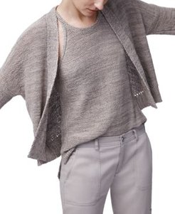 Open-Front Cropped Cardigan