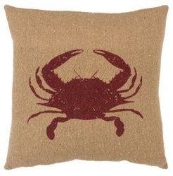 Crab Polyester Filled Decorative Pillow