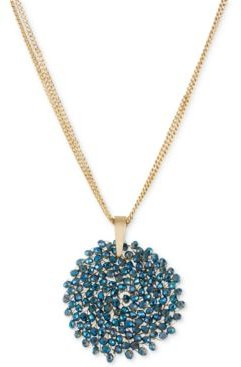 New York Topaz Woven Faceted Bead Pendant Necklace