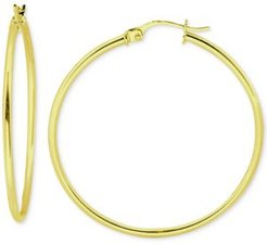 """Small Polished Hoop Earrings in 18k Gold-Plated Sterling Silver, 3/4"""", Created for Macy's"""