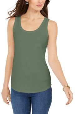 Supima Cotton Scoop-Neck Tank Top, Created for Macy's