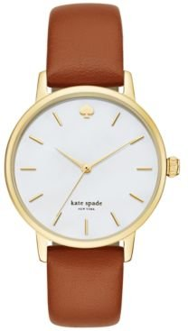Metro Luggage Leather Strap Watch 34mm KSW1142