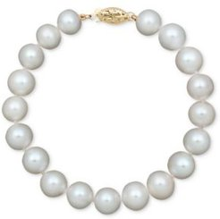 Pearl Cultured Freshwater Pearl Strand Bracelet in 14k Gold (8-1/2-9-1/2mm)