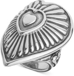 Decorative Heart Ring in Sterling Silver