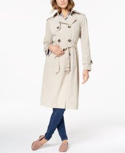 Belted Double-Breasted Water-Resistant Trench Coat