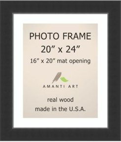 "Corvino Black 20"" X 24"" Matted to 16"" X 20"" Opening Wall Picture Photo Frame"