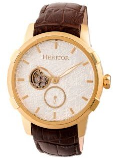 Automatic Callisto Gold & Silver Leather Watches 45mm