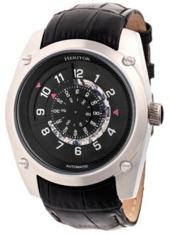 Automatic Daniels Silver & Black Leather Watches 43mm