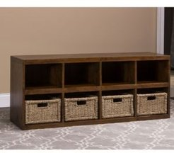 Tuscan Retreat Storage Console with Four (4) Baskets