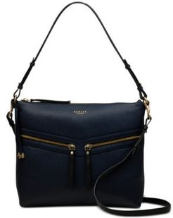 Smith Street Leather Zip-Top Shoulder Bag