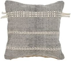 Natural Woven Throw Pillow