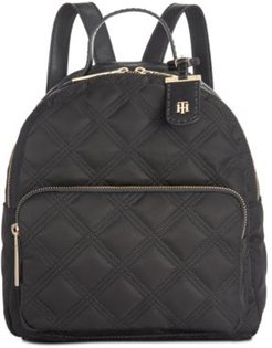 Julia Quilted Nylon Dome Backpack