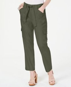 Inc Cargo Paper Bag Ankle Pants, Created for Macy's