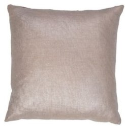 """Glitter Silver/Gray Solid Poly Throw Pillow 18"""""""