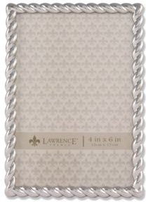 "710046 Silver Metal Rope Picture Frame - 4"" x 6"""
