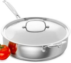 Chef's Classic Stainless Steel Covered 5.5 Qt. Saute Pan