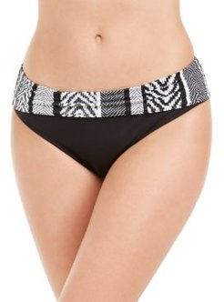 Printed-Waist Hipster Bikini Bottoms Women's Swimsuit