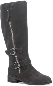 Collins Leather Buckled Boots, Created for Macy's Women's Shoes