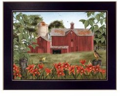 "Summer Days By Billy Jacobs, Printed Wall Art, Ready to hang, Black Frame, 18"" x 14"""