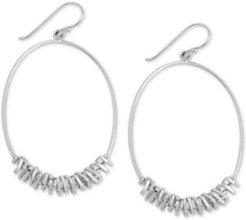 Oval Coil Wrapped Drop Earrings
