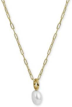 """Freshwater Pearl (8-9mm) 22"""" Pendant Necklace in 18k Gold-Plated Sterling Silver"""