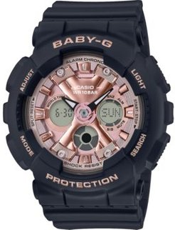Baby-g Women's Analog-Digital Black Resin Strap Watch 43.3mm
