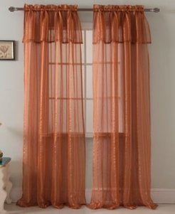 """Gretchen 54"""" x 90"""" Sheer Curtain Panel With Attached Valence"""