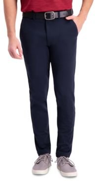 Active Series Slim-Fit Stretch Solid Casual Pants