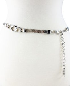 Metal Mesh Chain Belt with Status Link Stations