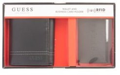 Rfid Trifold Wallet and Business Card Gift Set