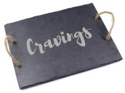 """Cravings"" Slate Serving Board"