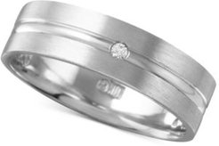 Diamond Accent Polished Band in White Gold