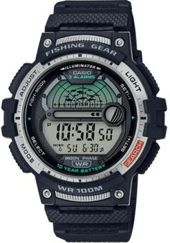 Digital Fishing Gear Black Resin Strap Watch 47mm