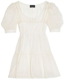 Solid Organza Puff-Sleeve Mini Dress, Created for Macy's