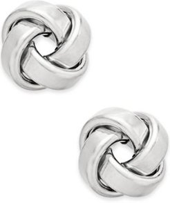Love Knot Stud Earrings in 14k Gold or White Gold