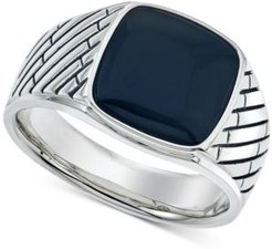 Onyx (12 x 12mm) Ring in Sterling Silver, Created for Macy's