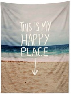 Leah Flores Happy Place Beach Tapestry