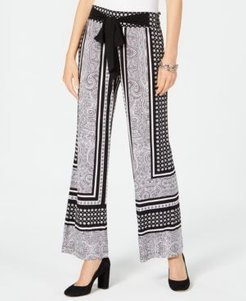 Inc Printed Wide-Leg Soft Pants, Created for Macy's