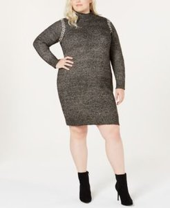 Plus Size Whipstitched Sweater Dress