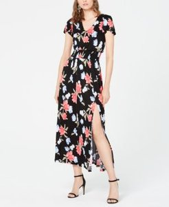 Inc Petite Floral-Print Smocked Maxi Dress, Created for Macy's