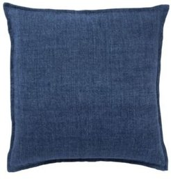 """Blanche Solid Blue Down Throw Pillow 22"""""""