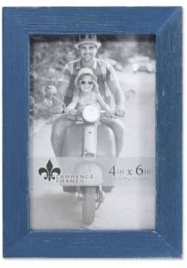 "Charlotte Weathered Navy Blue Wood Picture Frame - 4"" x 6"""
